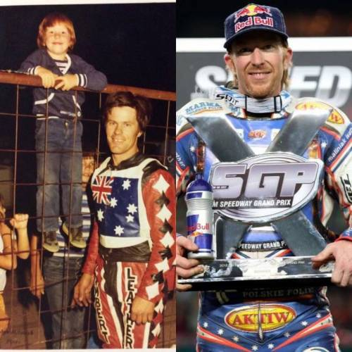 WORLD CHAMP CRUMP RACES IN FATHERS MEETING